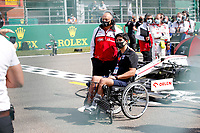 30th August 2020, Spa Francorhamps, Belgium, F1 Grand Prix of Belgium , Race Day;  Frederic Vasseur FRA, Alfa Romeo Racing, Juan Manuel Correa  as a VIP at the track