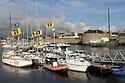 Concarneau - Bretagna, 18 agosto 2020. Il porto interno a ridosso della città murata.