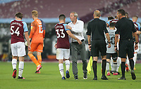 Charlton Athletic manager Lee Bowyer and West Ham United's Josh Cullen at the end of the game<br /> <br /> Photographer Rob Newell/CameraSport<br /> <br /> Carabao Cup Second Round Northern Section - West Ham United v Charlton Athletic - Tuesday 15th September 2020 - London Stadium - London <br />  <br /> World Copyright © 2020 CameraSport. All rights reserved. 43 Linden Ave. Countesthorpe. Leicester. England. LE8 5PG - Tel: +44 (0) 116 277 4147 - admin@camerasport.com - www.camerasport.com