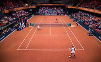 Den Bosch, The Netherlands, Februari 10, 2019,  Maaspoort , FedCup  Netherlands - Canada, doubles match Sunday : Overall vieuw <br /> Photo: Tennisimages/Henk Koster