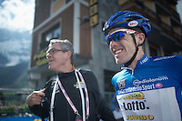 Steven Kruijswijk (NLD/LottoNL-Jumbo) finishes a strong 5th and sits in 9th overall<br /> <br /> Giro d'Italia 2015<br /> stage 19: Gravellona Toce - Cervinia (236km)