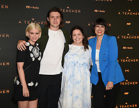 """PASADENA, CA - JUNE 7: Kate Mara, Nick Robinson, Executive Producer/Director Hannah Fidell, and panel moderator Stacey Wilson Hunt attend FX's """"A  TEACHER"""" FYC Drive-In Screening And Panel at the Rose Bowl on June 7, 2021 in Pasadena, California. (Photo by Frank Micelotta/FX/PictureGroup)"""