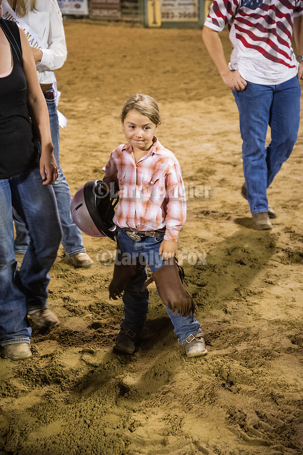 3rd day of the 76th Amador County Fair, Plymouth, Calif.<br /> <br /> Livestock Beauty Pageant, Rodeo and Mutton Bustin' finals