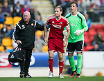 St Johnstone v Aberdeen...23.08.14  SPFL<br /> Russell Anderson limps off injured<br /> Picture by Graeme Hart.<br /> Copyright Perthshire Picture Agency<br /> Tel: 01738 623350  Mobile: 07990 594431