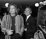 IRA FURSTERBENG E CARLO GIOVANELLI<br /> FESTA DELLO STILISTA MIGUEL CRUZ A LA TAMPA MILANO 1987