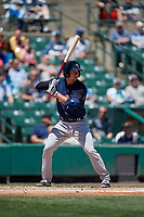 Scranton/Wilkes-Barre RailRiders catcher Kyle Higashioka (20) bats during a game against the Rochester Red Wings on June 7, 2017 at Frontier Field in Rochester, New York.  Scranton defeated Rochester 5-1.  (Mike Janes/Four Seam Images)
