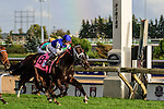 Toronto, ON - September  17:  Tepin, #8, ridden by Julien R. Leparoux runs to victory  at the Ricoh Woodbine Mile Stakes  at Woodbine Race Course on September 17, 2016 in Toronto, Ontario. (Photo by Victor Biro/Eclipse Sportswire/Getty Images)