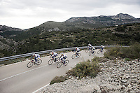Team Topsport Vlaanderen - Baloise training in the Alicante Province coming down the Coll de Rates in preparation of the new race season ahead.<br /> <br /> 2016 Trainingcamps