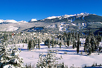 Whistler, BC, British Columbia, Canada - Winter Scenery and Ski Runs on Blackcomb Mountain