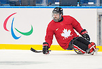 Sochi, RUSSIA - Mar 2 2014 -  Billy Bridges practices before the 2014 Paralympics in Sochi, Russia.  (Photo: Matthew Murnaghan/Canadian Paralympic Committee)