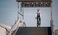 European Champion Mathieu van der Poel (NED/Corendon-Circus) warming up for the race he will be leading from start to finish<br /> <br /> Superprestige Ruddervoorde 2018 (BEL)