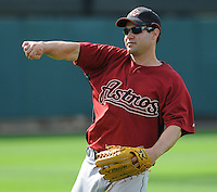 15 March 2009: John Gall of the Houston Astros before a game against the Atlanta Braves at the Braves' Spring Training camp at Disney's Wide World of Sports in Lake Buena Vista, Fla. Photo by:  Tom Priddy/Four Seam Images
