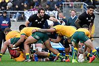 Samuel Whitelock of the New Zealand All Blacks looks on during the Bledisloe Cup - New Zealand v Australia at Sky Stadium, Wellington, New Zealand on Sunday 11 October 2020. <br /> Photo by Masanori Udagawa. <br /> www.photowellington.photoshelter.com