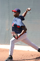 Santo Frias, Cleveland Indians 2010 minor league spring training..Photo by:  Bill Mitchell/Four Seam Images.