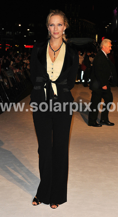 **ALL ROUND PICTURES FROM SOLARPIX.COM**.**WORLDWIDE SYNDICATION RIGHTS**.The film premiere of 'The Accidental Husband' in London. 13th February 2008..This pic: Uma Thurman..JOB REF: 5778 ATM     DATE: 13_02_2008.**MUST CREDIT SOLARPIX.COM OR DOUBLE FEE WILL BE CHARGED* *UNDER NO CIRCUMSTANCES IS THIS IMAGE TO BE REPRODUCED FOR ANY ONLINE EDITION WITHOUT PRIOR PERMISSION*