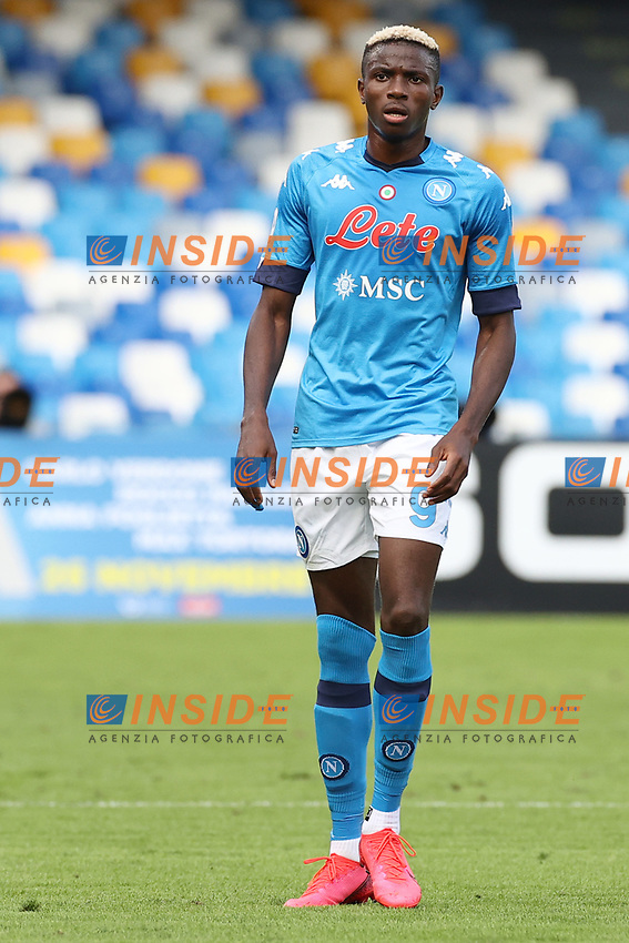Victor Osimhen of SSC Napoli<br /> during the Serie A football match between SSC Napoli and Atalanta BC at stadio San Paolo in Napoli (Italy), October 17th, 2020. <br /> Photo Cesare Purini / Insidefoto
