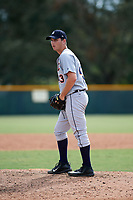Detroit Tigers pitcher Drew Carlton (43) gets ready to deliver a pitch during an Instructional League game against the Pittsburgh Pirates on October 6, 2017 at Pirate City in Bradenton, Florida.  (Mike Janes/Four Seam Images)