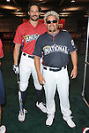 Guy Fieri & Joe Manganiello at the MLB All Star Fanfest Batting Practice held at The Anaheim Convention Center , the precursor to The All Star Legends Celebrity Softball game in Anaheim, California on July 11,2010                                                                               © 2010 Debbie VanStory / Hollywood Press Agency