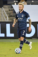 KANSAS CITY, KS - OCTOBER 24: Johnny Russell #7 of Sporting Kansas City with the ball during a game between  at Children's Mercy Park on October 24, 2020 in Kansas City, Kansas.