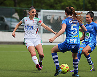 Amber Tysiak (3) of OHL with the ball during a female soccer game between Oud Heverlee Leuven and AA Gent Ladies on the 9 th matchday of play off 1 in the 2020 - 2021 season of Belgian Womens Super League , saturday 22 nd of May 2021  in Heverlee , Belgium . PHOTO SPORTPIX.BE | SPP | SEVIL OKTEM