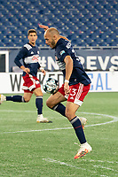 FOXBOROUGH, MA - OCTOBER 09: Tiago Mendonca #33 of New England Revolution II controls the ball during a game between Fort Lauderdale CF and New England Revolution II at Gillette Stadium on October 09, 2020 in Foxborough, Massachusetts.