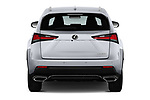Straight rear view of a 2018 Lexus NX 300 FWD 5 Door SUV stock images