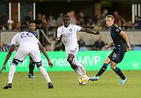 SAN JOSE, CA - AUGUST 31: Jackson Yueill of the San Jose Earthquakes during a Major League Soccer (MLS) match between the San Jose Earthquakes and the Orlando City SC  on August 31, 2019 at Avaya Stadium in San Jose, California.