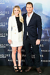 """Americans actress Jennifer Lawrence and actor Chris Pratt attends to the presentation of the american film """"Passengers"""" at Hotel Villa Magna in Madrid, Spain. November 30, 2016. (ALTERPHOTOS/BorjaB.Hojas)"""
