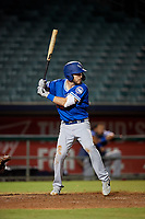 Oklahoma City Dodgers Drew Jackson (22) at bat during a Pacific Coast League game against the New Orleans Baby Cakes on May 6, 2019 at Shrine on Airline in New Orleans, Louisiana.  New Orleans defeated Oklahoma City 4-0.  (Mike Janes/Four Seam Images)