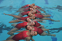 STANFORD, CA - NOVEMBER 5:  (Not in order) Erin Bell, Alex Bollaidlaw, Debbie Chen, Allison Coates, Taylor Durand, Morgan Fuller, Maria Koroleva, Gayle Lee, Michelle Moore, Olivia Morgan, Corinne Smith, and Koko Urata during picture day on November 5, 2008 at the Avery Aquatic Center in Stanford, California.