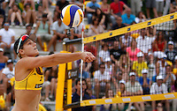 Jennifer Kessy, of the United States, in action at the Beach Volleyball World Tour Grand Slam, Foro Italico, Rome, 22 June 2013. United States defeated Italy 2-0.<br /> UPDATE IMAGES PRESS/Isabella Bonotto
