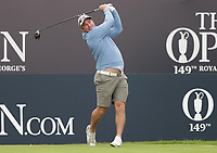 13th July 2021; The Royal St. George's Golf Club, Sandwich, Kent, England; The 149th Open Golf Championship, practice day; Ryan Fox (NZ) hits his tee shot on the 1st hole