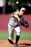 Jeremy Ward of Cal State Long Beach during a NCAA baseball game against the USC Trojans at USC circa 1999 in Los Angeles, California. (Larry Goren/Four Seam Images)