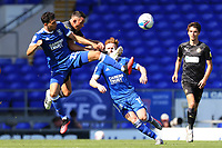 13th September 2020; Portman Road, Ipswich, Suffolk, England, English League One Footballl, Ipswich Town versus Wigan Athletic; Andre Dozzell of Ipswich Town competes for the ball with Gary Roberts of Wigan Athletic