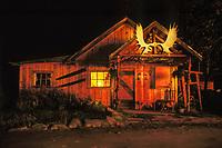 Old miners cabin in historic mining district in Kantishna, Alaska, Denali National Park, Alaska.