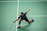 Sony Dwi Kuncoro of Indonesia competes against Hu Yun of Hong Kong during the 2016 Hong Kong Open Badminton Championships at the Hong Kong Coliseum on November 25, 2016 in Hong Kong, China. Photo by Marcio Rodrigo Machado / Power Sport Images