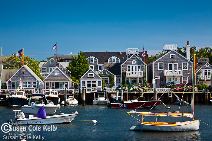 Cottages on the East side of Nantucket Town, Nantucket, MA, USA