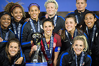 Orlando, FL - Wednesday March 07, 2018: USWNT celebrates victory during the She Believes Final Cup Match featuring USA Women's National Team vs. Englands Women's National Team