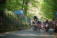 First KOM (and only 1 in the stage) of the Giro and the 3 escapees make a sprint for it! <br /> <br /> stage 2: Arnhem-Nijmegen (NLD) 190km<br /> 99th Giro d'Italia 2016