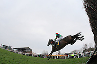 Race winner Marky Bob ridden by Mr G Gallagher jumps the last during the William Bulwer-Long Memorial Novices Fox Hunters Chase  at Fakenham Racecourse, Norfolk - 16/03/12 - MANDATORY CREDIT: Gavin Ellis/TGSPHOTO - Self billing applies where appropriate - 0845 094 6026 - contact@tgsphoto.co.uk - NO UNPAID USE.