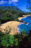 "Lumahai beach, where movie """"South Pacific"""" was filmed, Kauai"