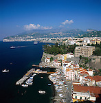 Italy, Campania, Sorrento: with Marina grande | Italien, Kampanien, Sorrento: mit Marina grande