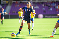 ORLANDO CITY, FL - FEBRUARY 21: Lynn Williams #6 of the USWNT dribbles the ball during a game between Brazil and USWNT at Exploria Stadium on February 21, 2021 in Orlando City, Florida.