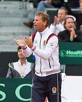 14-09-12, Netherlands, Amsterdam, Tennis, Daviscup Netherlands-Swiss,  captain Jan Siemerink