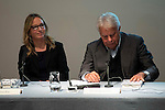 """The left to the right, the writter of the book, Soledad Fox Maura and the politic Felipe Gonzalez during the presentatoin of the book """"Ida y Vuelta. La vida de Jose Semprum"""" of Soledad Fox Maura in Madrid. May 25. 2016. (ALTERPHOTOS/Borja B.Hojas)"""