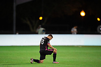 LAKE BUENA VISTA, FL - JULY 27: Jordan Morris #13 of the Seattle Sounders before the game during a game between Seattle Sounders FC and Los Angeles FC at ESPN Wide World of Sports on July 27, 2020 in Lake Buena Vista, Florida.
