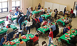 WATERBURY, CT-122517JS08---Guests enjoy their dinner during the annual Joy of Christmas Dinner served on Christmas Day at the First Congregational Church's Clinton Hall in Waterbury. <br /> Jim Shannon Republican-American