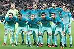 FC Barcelona's team photo with Marc-Andre Ter Stegen, Samuel Umtiti, Ivan Rakitic, Sergio Busquets, Gerard Pique, Sergi Roberto, Leo Messi, Neymar Santos Jr, Andres Iniesta, Luis Suarez and Jordi Alba during Spanish Kings Cup match. January 05,2017. (ALTERPHOTOS/Acero)