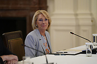 United States Secretary of Education Betsy DeVos delivers remarks at the American Workforce Policy Advisory Board Meeting at the White House in Washington, DC on Friday, June 26, 2020. <br /> Credit: Chris Kleponis / Pool via CNP/AdMedia