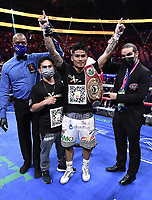 LAS VEGAS, NV - AUG 21: Mark Magsayo after defeating Julio Ceja on the Fox Sports PBC pay-per-view fight night at the T-Mobile Arena on August 21, 2021 in Las Vegas, Nevada (Photo by Scott Kirkland/Fox Sports/PictureGroup)